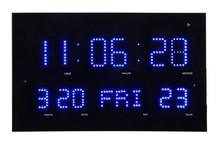 large digital led wall clock calendar
