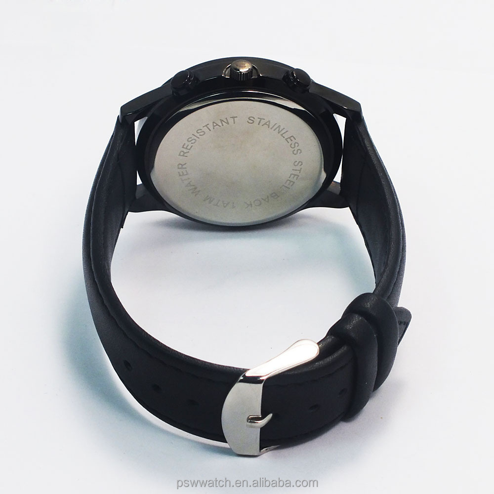 custom design alloy case winner watch men leather watch