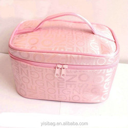 Hot Sell Promotional Clear Vinyl Mesh Fashion Travel Cosmetic Bag