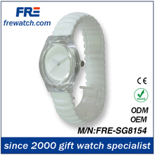 2012 lady's silicone band watch lady's stylish watch