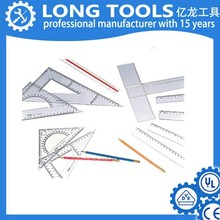 top selling Custom brand 45 degree triangle thick inch cm plastic ruler
