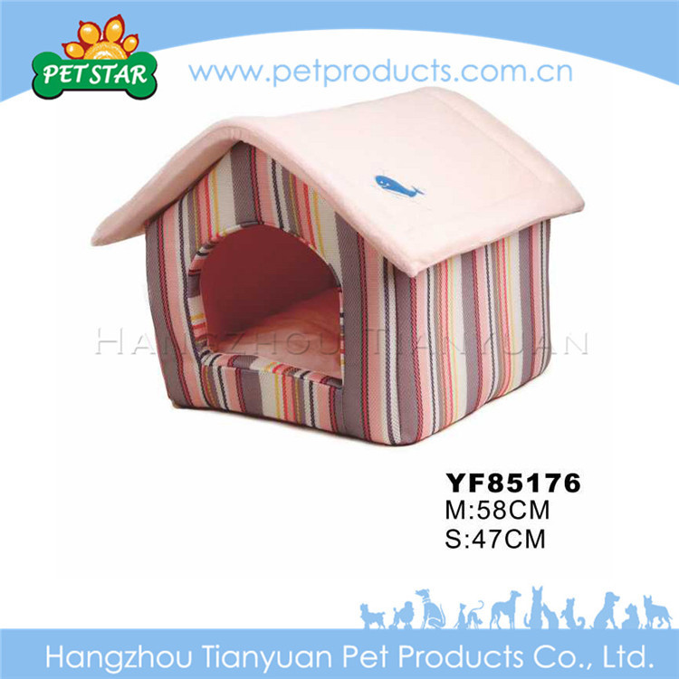 Bone Decoration Indoor Soft Fabric Dog House for Sale