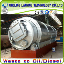 very popular! hot selling! waste tire recycling into crude oil