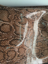 Textiles leather Shine Snake skin design PU leather material Suede Fabric