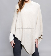 High Quality Pure Cashmere Poncho With Factory Price