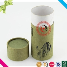 Craft wholesale round paper packaging tea canister box