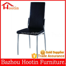 2015 new look leather back and seat and metal tube legs dining chairs for home furniture