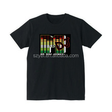 Custom design pure cotton el T-shirt