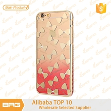 BRG Bowknot Pattern Rhinestone Diamond Cell Phone Case Electroplated Clear PC Covers Mobile Phone Accessories for iPhone 6