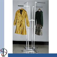 4-ways Garment Display Stand with Arm Rack
