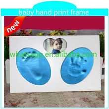 best selling handprint and footprint kit with frame handmade stick photo frame