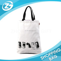Custom New Design Promotional Green Eco-friendly Reusable Durable Grocery Shopping Travel Handbag Gift Cotton Canvas Tote Bag