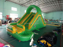 us water slide , LZ-B3447 pvc hippo inflatable water slide