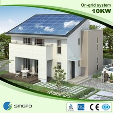 Singfo Solar On Grid Solar System 10KW For Ground Installation