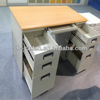 2014 hot sale metal office desk with steel cabinet/strong office work desk India market