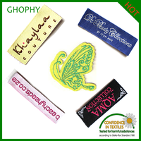 Custom straight cut polyester woven labels design