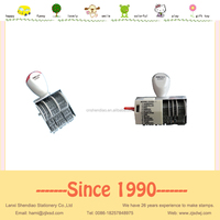 Date stamp roller rubber stamp automatic numbering stamp