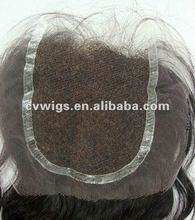 High quality human hair swiss lace top closure hair pieces