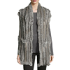 Wholesale Women Real Knitted Rabbit Fur Vest for Fashionable Ladies with Cheap Price