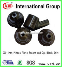 Iron Pieces Plate Bronze and Dye Black Salt electrolytic and chemical plating