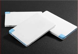 credit card power bank, 2500mAh Ultra-Thin Wallet Sized Portable USB External Battery Charger (White)