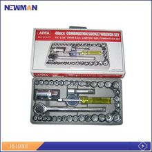 various type sockets and bits mechanical tools/professional hand tool kit