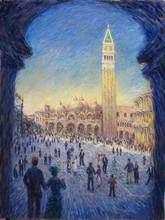 2015 New Arrival Hand Paintd High Quality Impressionist Venice Oil Painting On Canvas For Living Room Wall Decoration