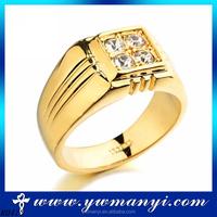 Good quality k gold plated new model latest diamond dubai wedding ring for women