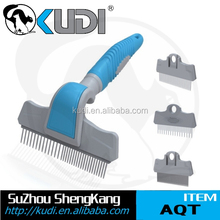 Replaceable head dog hair grooming comb