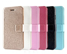 PU flip card slot leather wallet cell phone case for iphone 6 plus