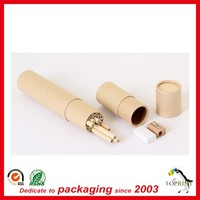 Alibaba wholesale round paper cylindrical packaging box for colorful pencil