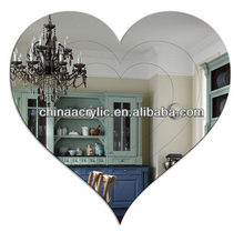 Engraved Acrylic Heart Mirror in high quality