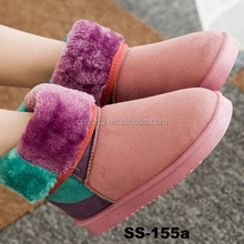 SS-155 cheap snow boots flat boots womans boots with fur
