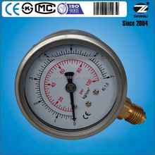 2.5 inch or 63mm gauge pressure measuring tools for -1 ~ 1000 bar as request