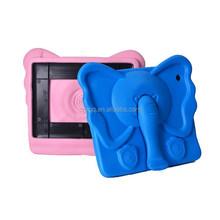 Colorful Kids Thick Foam EVA Shock Proof Foam elephant character silicone Case For Ipad mini 1/2/3