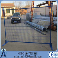DD portable painted used temporary metal fence panelsDD