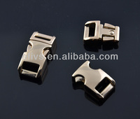 New fashion shining 3/8'' curved light golden metal side release buckle