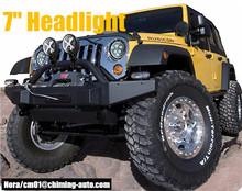60w 12V 24V Halo 7 inch round led headlight for Jeep wrangler