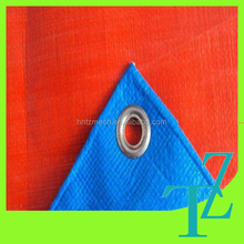 plastic top selling products pe / pp green-silver tarpaulin