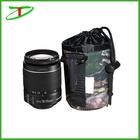 Camouflage cordão neoprene camera lens pouch bag atacado