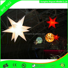 2014 Most popular custome pvc led inflatable star