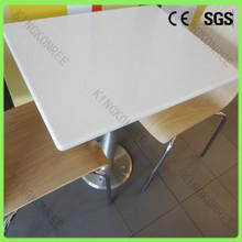 Mesa de comedor/de acero inoxidable mesa de comedor de la base