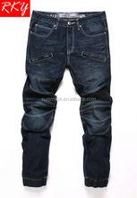 Men Jean Pant New Design Denim Jean Pant Men's Jeans Jogger with Pu Design 2014 Fashion TDL7037-2