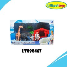 2015 new plastic zoo animals toys for kids