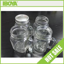 Square round 16 oz mason jar ball with handle