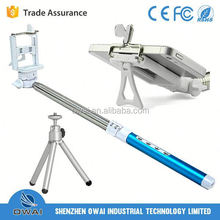 Factory wholesale 2 in 1 extendable tripod turnstile with mirror,with professional tripod,with foldable phone holder