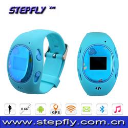 0.66 inch screen Bluetooth 3.0 GPS/AGPS/LBS/WiFi child track watch