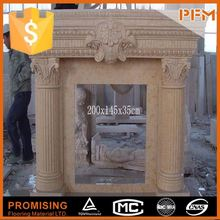 Luxury castle interior design stone marble fireplace surround fireplace fire surrounds