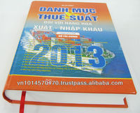 Hard_covered List of tariffs on imports and exports book printing service