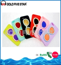 2015 Fashionable Pearl Glasses Pattern Silicone Case for Samsung Galaxy S6 cover for phone 6